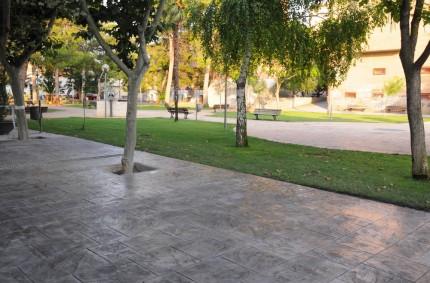 Hormigón Impreso para Ayuntamiento de Pinseque