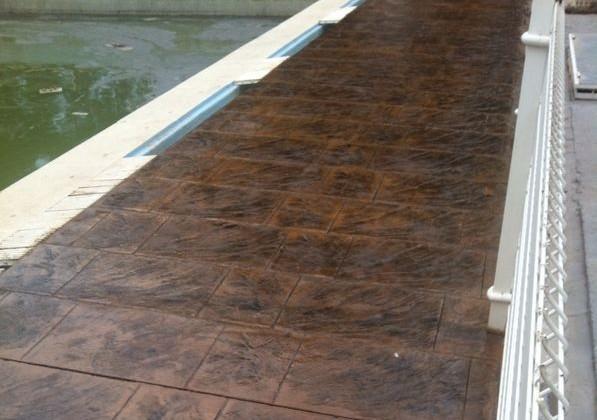 Hormigon impreso en piscinas sastago pavimentos utebo for Hormigon impreso para piscinas