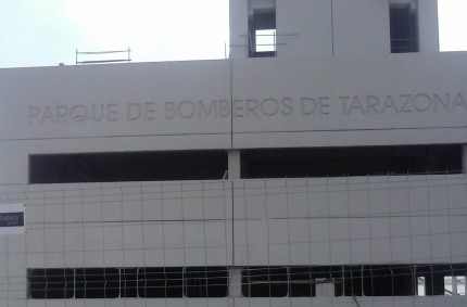 Hormigon fratasado Parque de Bomberos Tarazona
